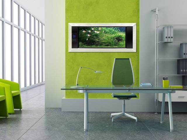 رنگ سبز در طراحی داخلی دفتر کار | شرکت معماری داخلی تهران دیزاین سنتر